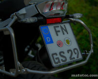 Schwarz Kennzeichenhalter Motorrad 180 x 200 Kennzeichen Nummernschildhalter