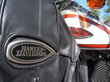 HARLEY DAVIDSON LEATHER JACKET HERITAGE SPRINGER FLSTS HAWK LARGE