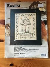 Bucilla 1997 TREES OF THE FIELD Counted Cross Stitch Kit 8