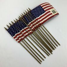 Vintage 4x6 Inch Concord Hemmed Miniature Us Stick Flags