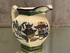 Pot à lait en faïence anglaise signée Wood & sons décor Extrême-Orient Canton