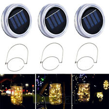 Solar Lanterns Mason Jar Hanging 20 Led Lights String Fairy Firefly Starry Lamps