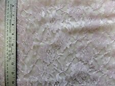 LILAC  FLORAL LACE 100%  POLYESTER FABRIC BY THE 1/2 YARD