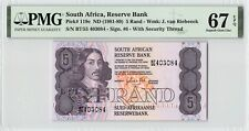 South Africa ND (1981-89) P-119c PMG Superb Gem UNC 67 EPQ 5 Rand