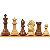 "3.9"" Craftsman Knight Staunton Chess Pieces Only set - Weighted Sheesham Wood"
