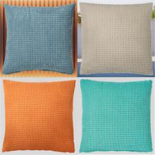 New GULLKLOCKA Cushion cover,Beige,Light blue,Orange or Turquoise 50x50 cm IKEA