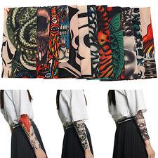 12 x Tattoo Ärmel Skin Arm Sleeve Strümpfe Stulpe Karneval Fasching Kostüme