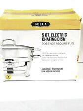 Bella  5 QT  Electric Chafing Dish Stainless Steel warming dish and base
