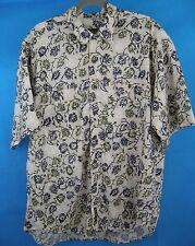 Short Sleeve Button Front Shirt L Pattern Men's Timberland Weathergear