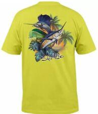 "Salt Life Margarita Lime S/S T Shirt ""Paradise Slam"" Fish Mens Small"