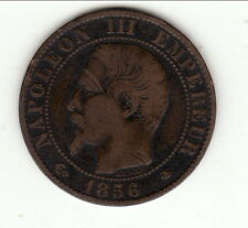 NAPOLEON III 5 CENTIMES TETE  NUE 1856 BB   TTB   cote TTB 25 EURO
