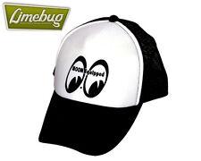 Mooneyes Eyes Black Trucker Cap Hat Beck Equipped Moon VW Hotrod Camper Beetle