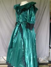 Victorian Dress Edwardian Civil War Style Gown Teal