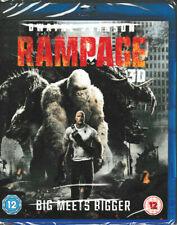 Rampage - Dwayne Johnson - 3D Blu Ray - Brand New & Sealed