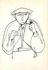 KARL HOFER -  pipe smoker * RARE LIMITED EDITION PRINT from 1950