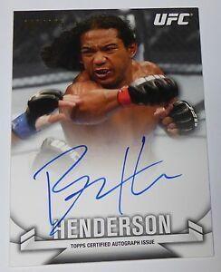 Benson Henderson Signed UFC 2013 Topps Knockout Card #KA-BH Autograph #d 68/155