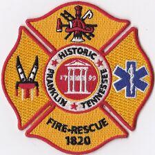 Franklin Fire Rescue TN Fire Patch NEW !!