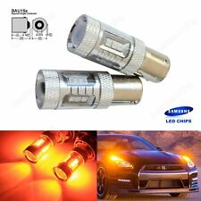 2 PY21W Amber Orange LED Samsung SMD Bulb Indicator Signal Front Rear 581 BAU15S