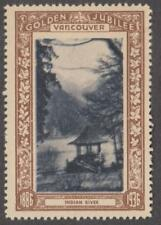 Canada Vancouver BC Indian River Gazebo brown Golden Jubilee poster stamp 1936
