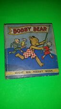 NICE 1930s HTF TITLE BOBBY BEAR GREAT BIG MIDGET BOOK  BIG LITTLE BOOK
