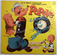 POPEYE LAUNCHES HIS NEW SONG Peter Pan Records 78 Children's, VINTAGE, VTG 1958