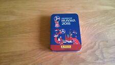 Panini Fifa World Cup Rusia 2018 Tin Box Vacía Metal como nuevo caso para Pegatinas