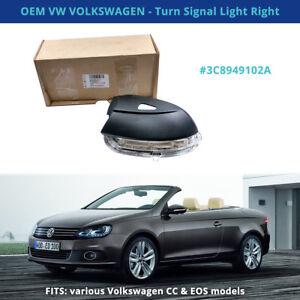 OEM VW 3C8949102A Turn Signal Light Right - Fits: VOLKSWAGEN 09-16 CC, EOS