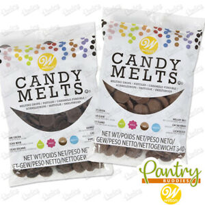 Wilton Candy Melts - Cake Pop Chocolate Buttons - Dark Cocoa / Light Cocoa 340g