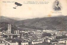 CPA 34 LODEVE 1911 JOURNEES D'AVIATION L'AVIATEUR KUHLING SUR MONOPLAN BLERIOT