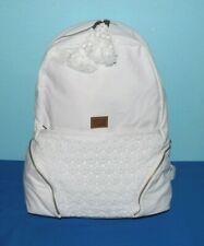 Roxy Bombora Backpack White Color Cotton Lace, Fringe NWT $42.- Free/Ship