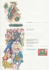 GB Stamps Aerogram / Air Letter APS51 - 20p Dancing, Holly, Cat Christmas 1981