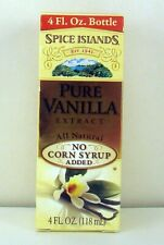 Spice Islands 4 oz Glass Bottle Pure Vanilla Extract No Added Corn Syrup Free S!