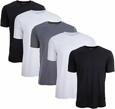 5 Pack: Men's Active Dry Fit Moisture Wicking Athletic Performance Workout...