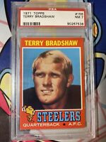 1971 Topps Football Terry Bradshaw ROOKIE RC #156 PSA 7 NM HOF
