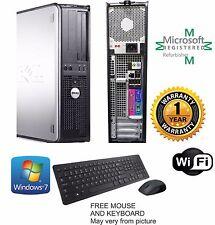 Fast Dell Dual Core Desktop Computer PC 4GB RAM, 250GB Windows 10 HP 64Bit