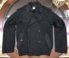 Ralph Lauren Black Label Gent's Silk Trench Sweater Jacket Size Medium BLACK