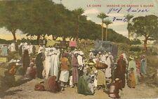 CARTE POSTALE EGYPTE LE CAIRE MARCHE DE LA CANNES A SUCRE