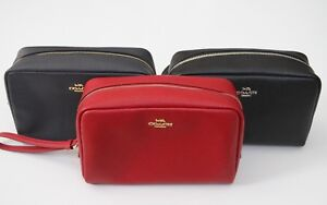 Coach Crossgrain Leather Cosmetic Case 20 Style # F24797