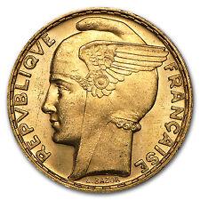 1935-1936 France Gold 100 Francs Marianne Bu - Sku #94393