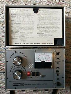 Vintage Sadelco Model 719-C VHF-UHF SIGNAL LEVEL METER Field Strength Tester