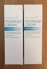 2 X 60ml Psoriasis Cream, Treatment For Red, Sensitive, Scaly Skin. Steroid Free