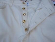 Chanel Boutique White Denim Jeans made France Women Pant Sz 28 X 27
