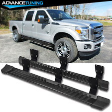 Fits 99-16 Ford F250 Superduty Crew Cab V Style Side Step Running Boards Black