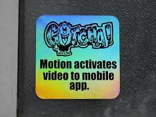 20 GOTCHA! Video Security Surveillance Camera Theft Deterrent Holographic label