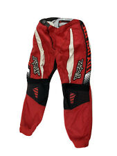 Fox Racing 180 Pants, Size 28 (12-14)  Red & Black & White