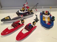 Lego City Fishing boat, two speed boats and Dive boat