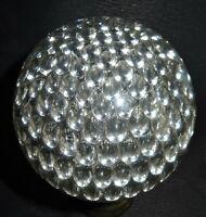 Boule Escalier En Cristal - Modèle Nid d'Abeilles - Monture bronze 19ème
