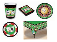 Casino Style Tableware Fancy Dress Party Plates Napkins Decorations