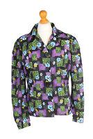Vintage Shirt Long Sleeve Floral Fashion Design Summer UK Chest M Multi - LB194