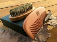 Beard Brush Boar Bristles & Wooden Comb Kit for | BeardField
